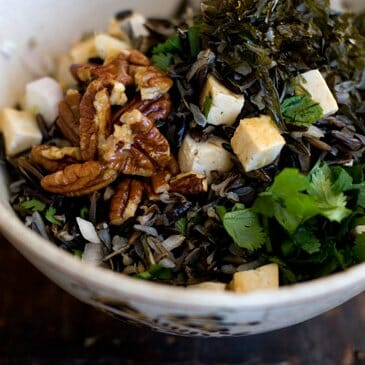 Wild Rice Salad Recipe with Nori (Karengo)