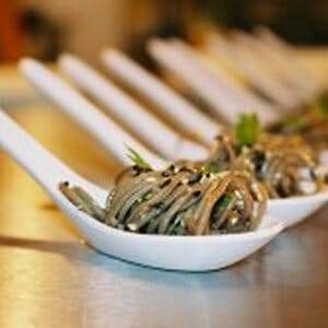 Noodle recipe with furikake seasoning